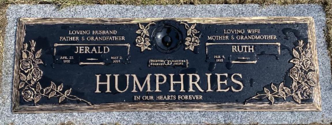 HUMPHRIES MEMORIAL | Hope Memorial Gardens
